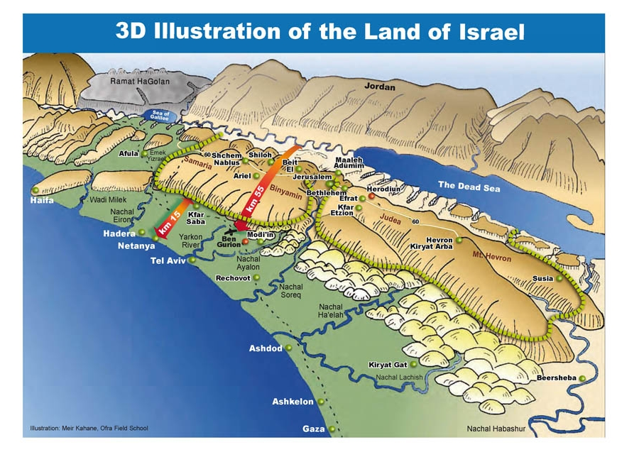 Israel maps 3d topographical map of israel gumiabroncs Choice Image