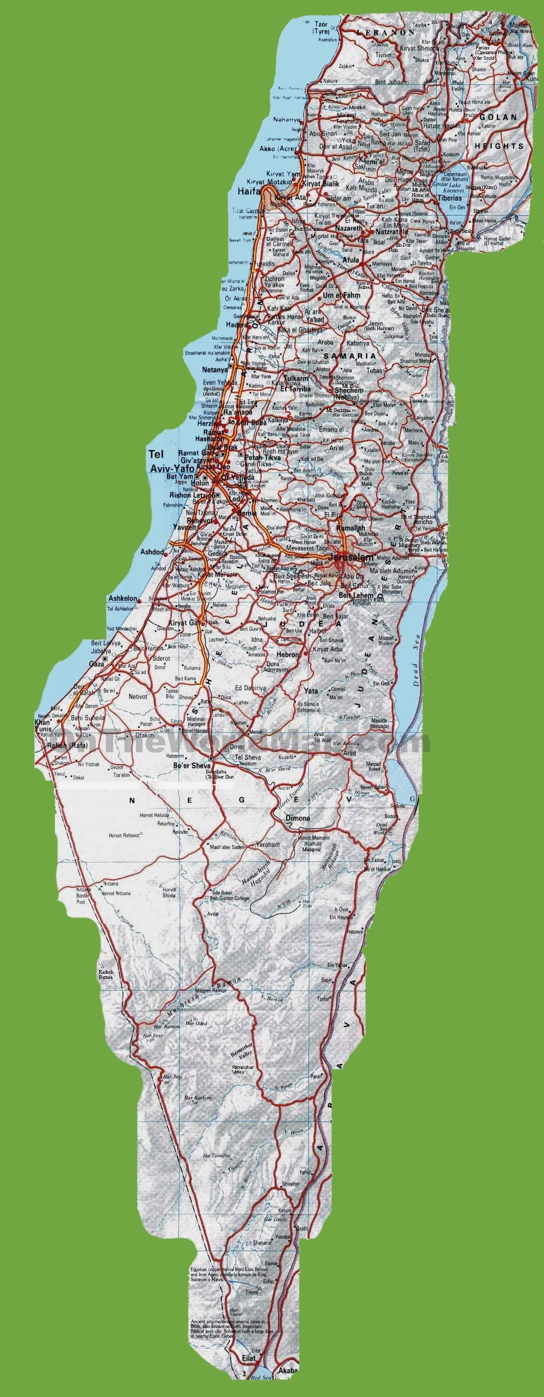 Israel Maps on