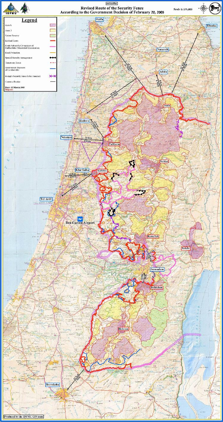detailed map of israel pdf