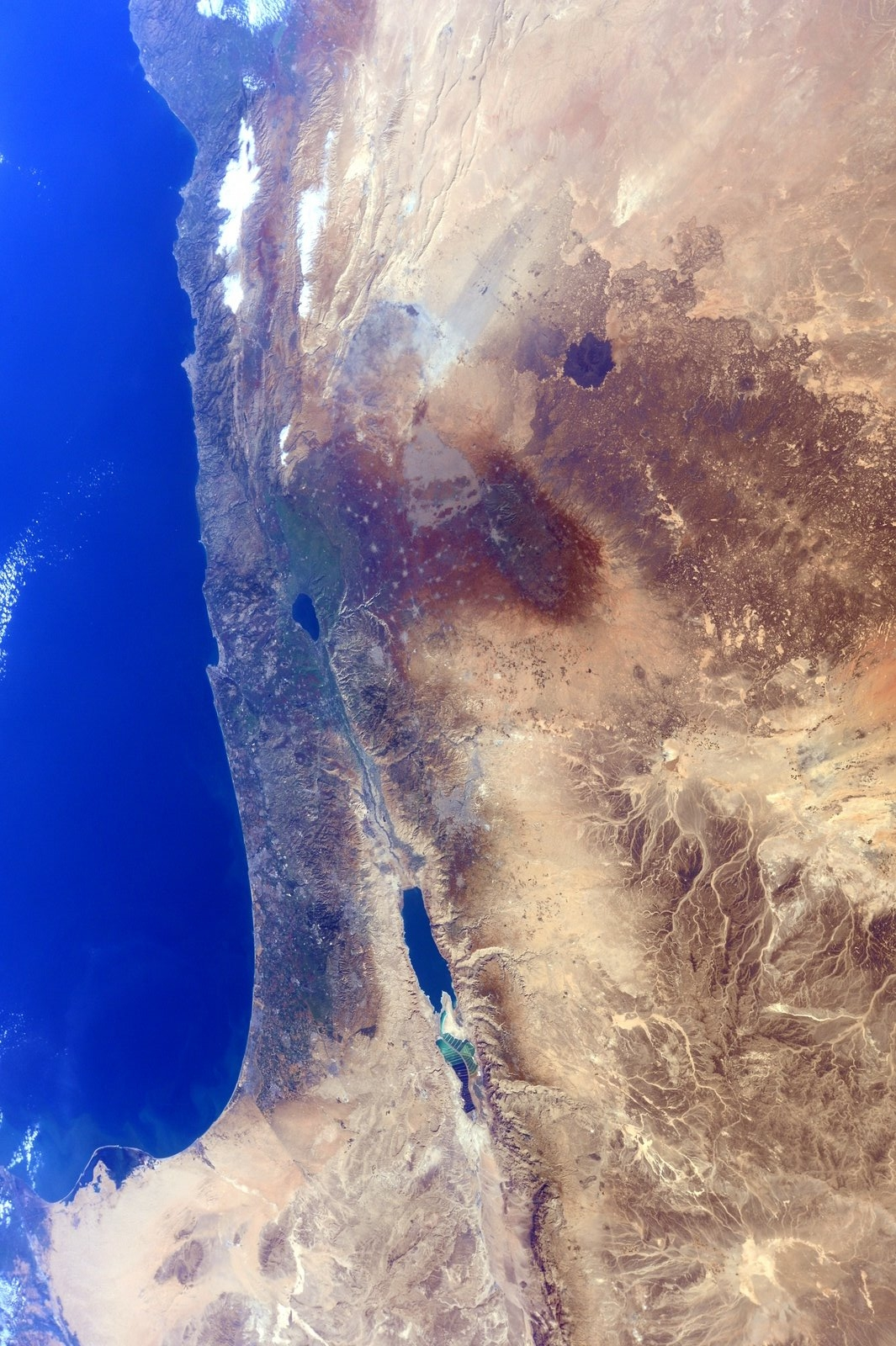 NASA Space Photos of Israel from the International Space ...